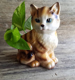Small Cat Planter - Vintage Kitten