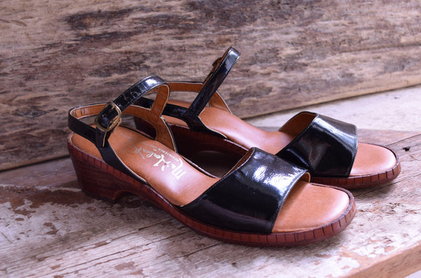 Patent Leather Sandals  Size 5.5 - Mr. Herbert Couture Footwear