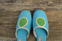 Slip on Mod Shoes - Size 7.5N - Cloudhoppers - 60s Blue slip on heels
