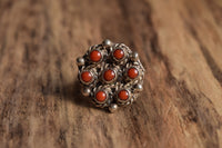 Size 5 Coral Native American Ring