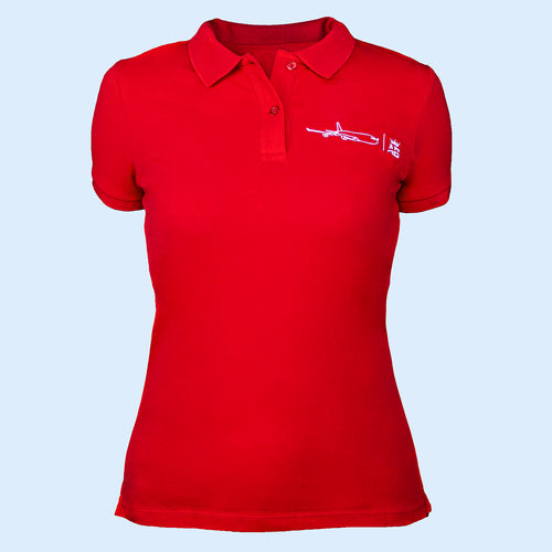 The must have Air Belgium women's polo - Red