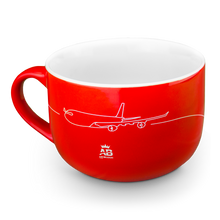 Load image into Gallery viewer, Air Belgium red ceramic large cup