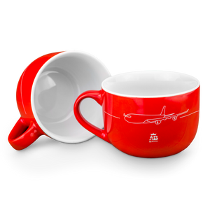 Air Belgium red ceramic large cup