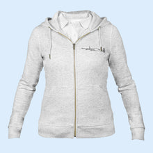 Load image into Gallery viewer, The iconic Air Belgium women's zip-thru hoodie sweatshirt