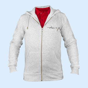 The iconic Air Belgium men's zip-thru hoodie sweatshirt