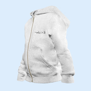 The iconic Air Belgium kids' zip-thru hoodie sweatshirt