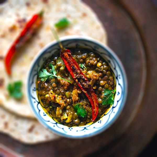 Masoor Dal with Vegetables Using EltheCook's Dal 'Tadka'