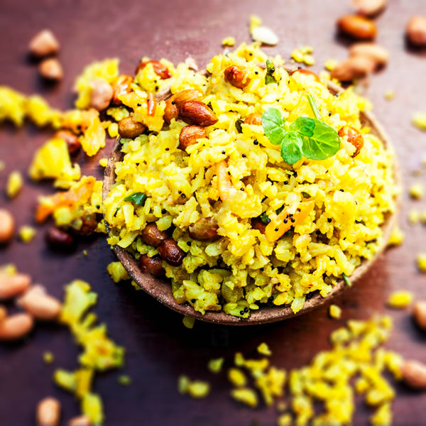 Poha with ELtheCook's Lemon Rice 'Tadka'