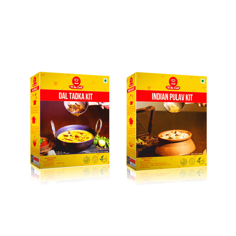 Quick and Tasty, Easy North Indian Basmati Rice & Lentils Recipes with EL The Cook Tadka Masala. Delivered Worldwide. Buy Online. Dal and Pulao - Vegetarian Cooking