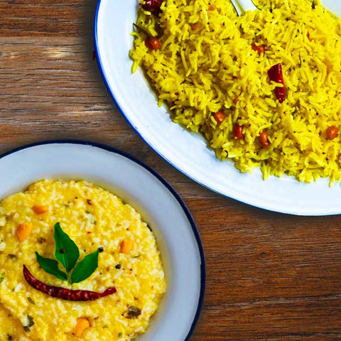 Quick and Tasty, Easy South Indian Basmati Rice Recipes with EL The Cook Tadka Masala. Delivered Worldwide. Buy Online. Lemon Rice and Pongal - Vegetarian Cooking.
