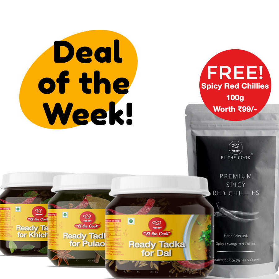 3 Tadka Jar + Free Spicy Red Chillies 100g | Deal of the week