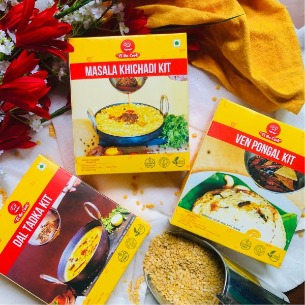 elthecook el the cook lentils combo, indian dals, easy meal kits, vegetarian recipe, fast, healthy, quick, kids, mild spicy. Buy Online now. Worldwide shipping