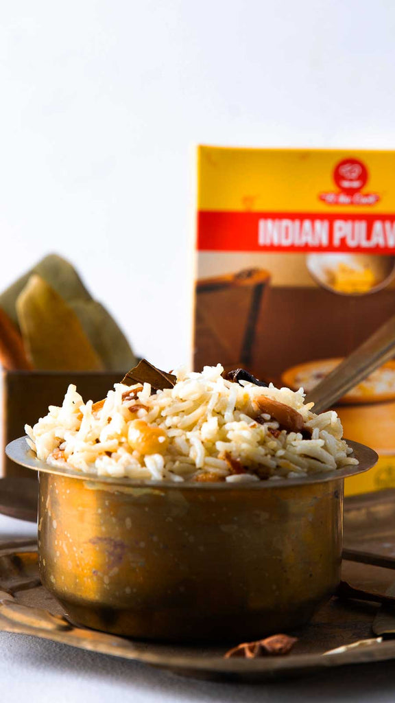 elthecook Pulao, Pilaf, Pulav, Basmati Rice recipe meal kit, Vegetarian Indian Cooking, Healthy, Natural, Buy Online, Shipped worldwide el the cook