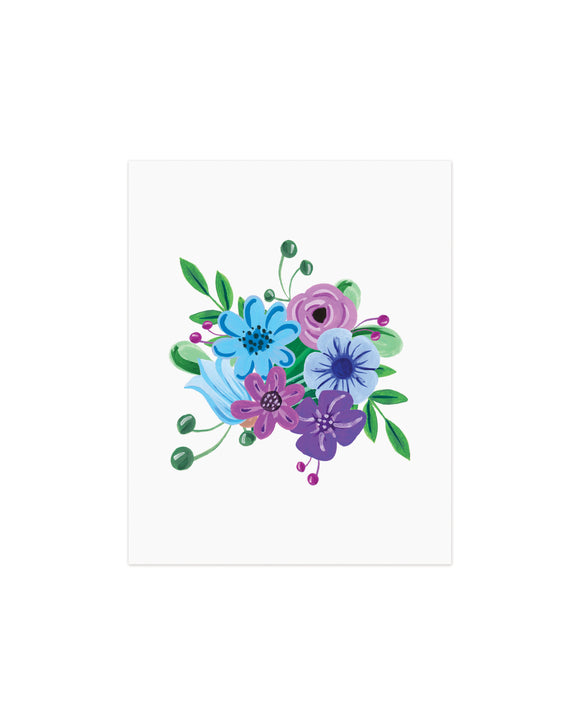 Blue Purple Flowers - Wholesale