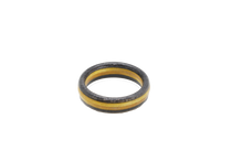 "Load image into Gallery viewer, ""3 Rivers"" Steelers Themed Board Ring - Black & Gold"