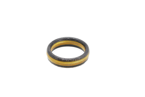 """3 Rivers"" Steelers Themed Board Ring - Black & Gold"