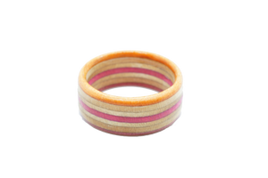 """Corona del Mar"" Board Ring - Pink/Orange/Tan Bands"