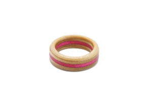 """Little Corona"" Board Ring - Pink/Orange/Tan Bands"