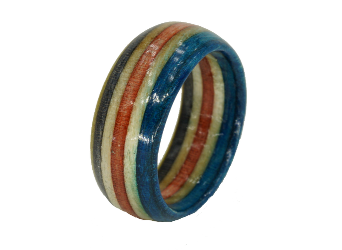 """San Clemente"" Board Ring - Red/White/Blue/Yellow Bands"