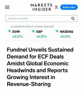 Markets Insider:  Fundnel Unveils Sustained Demand for ECF Deals Amidst Global Economic Headwinds and Reports Growing Interest in Revenue-Sharing