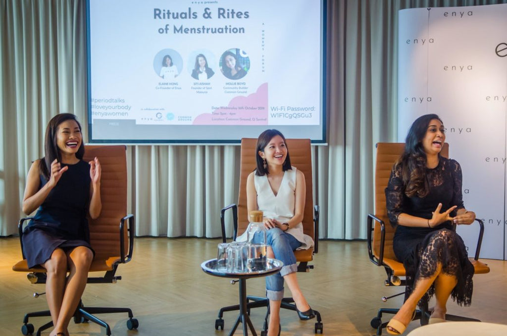 enya striking period menstrual health conversation with spot Aishah and common ground Malaysia