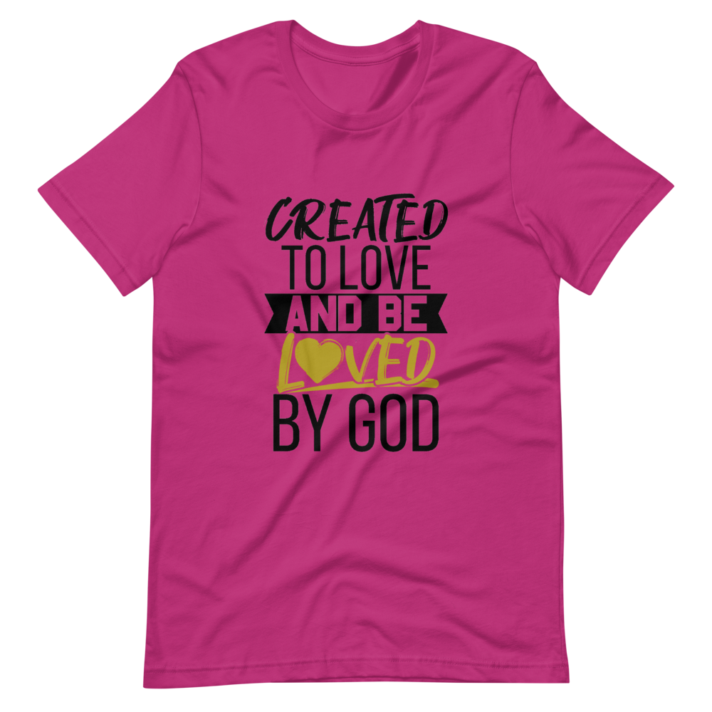Created to Love Ladies Tee (Berry)