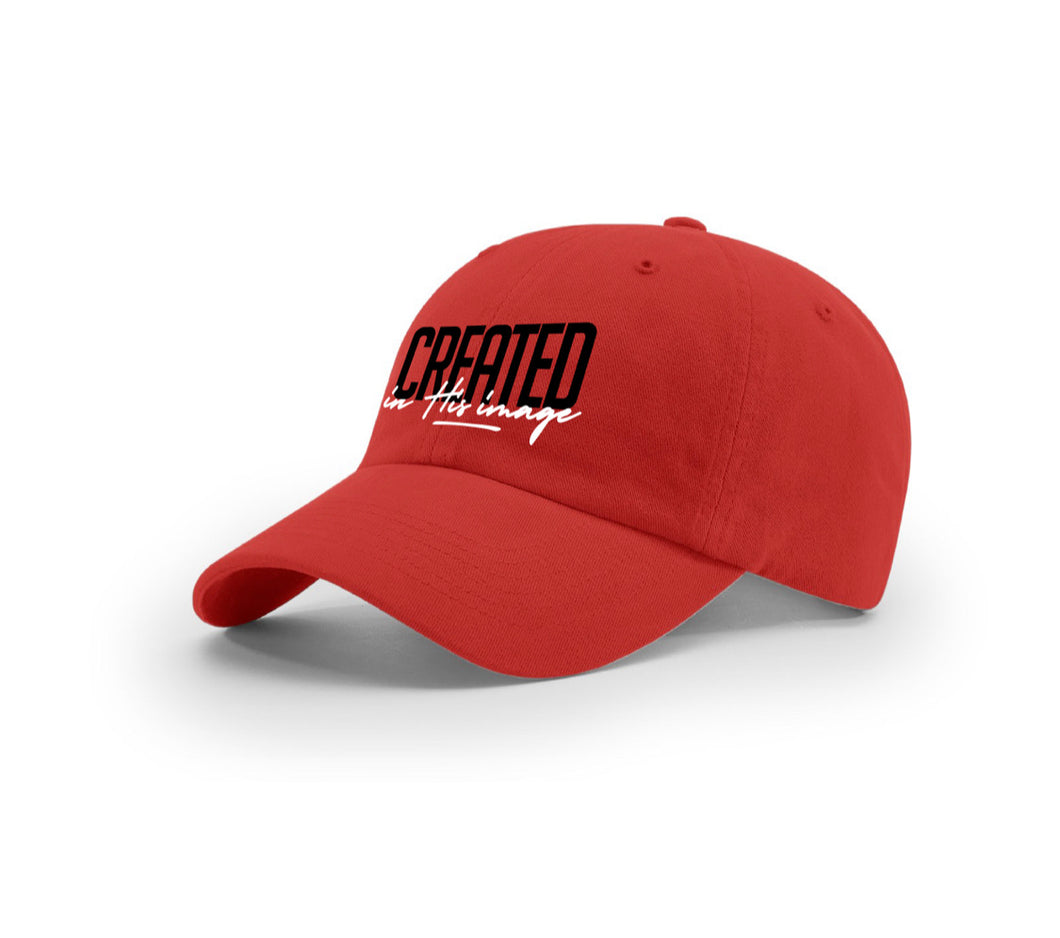 "Dad Hat ""In His Image"" (red)"