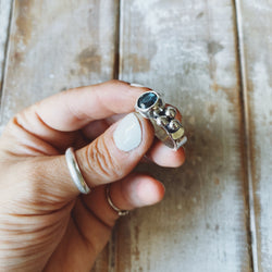 Anillo Elisa Lunar Topacio London Blue
