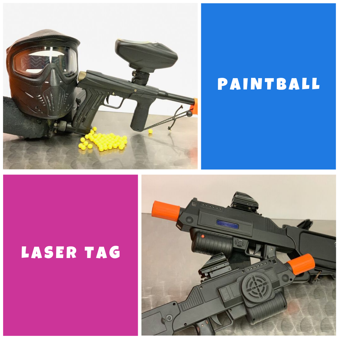 duo combo paintball laser tag
