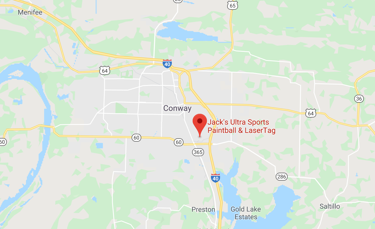 Jack's Ultra Sports Conway Arkansas map