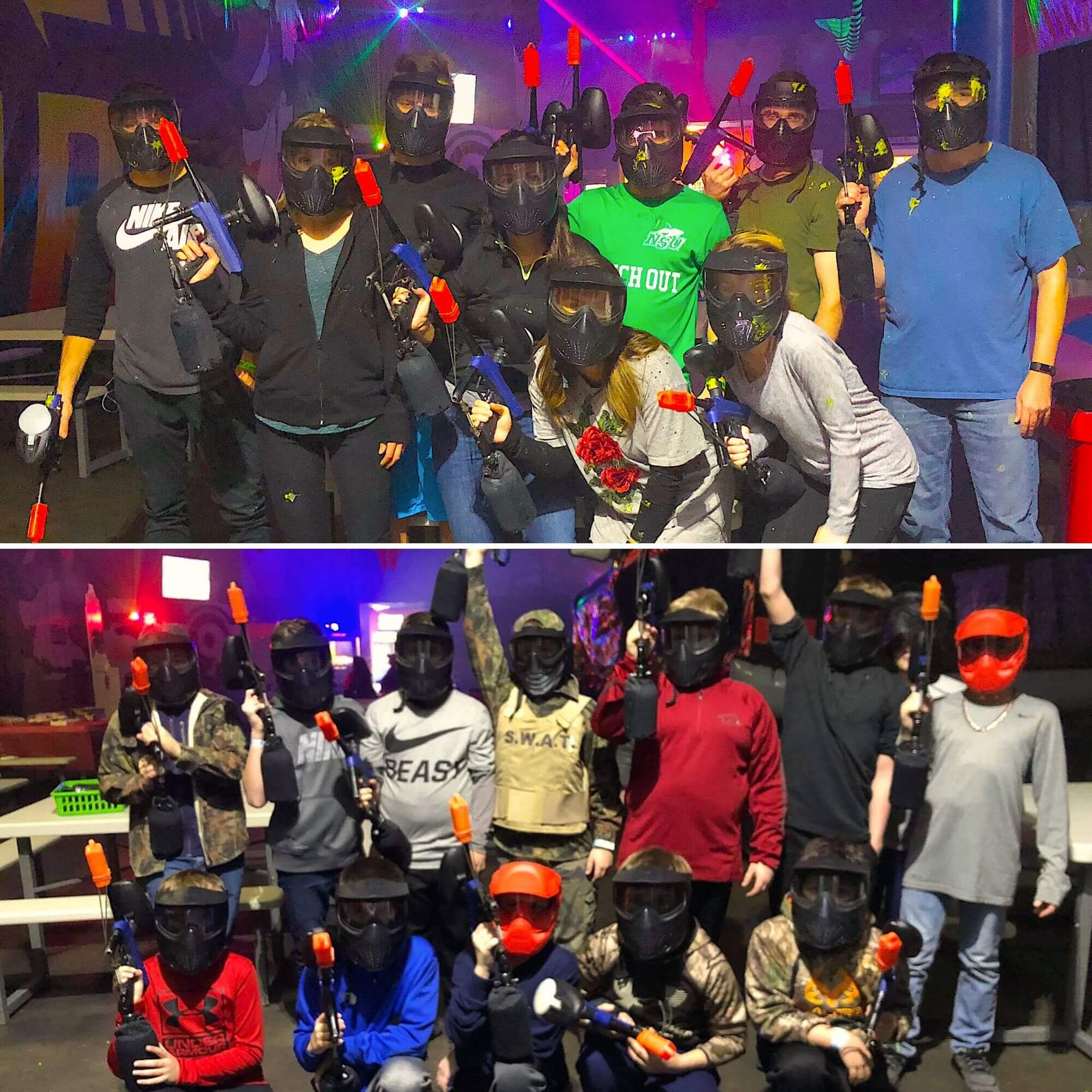 indoor low-impact paintball groups