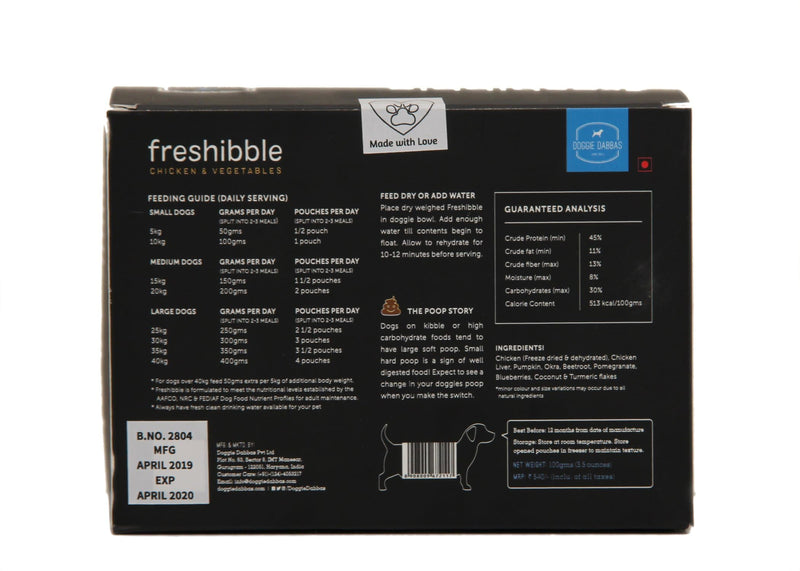freshibble - Chicken & Vegetables (Value Packs)