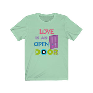 Love is an open door Unisex Jersey Short Sleeve Tee