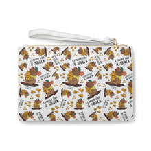 Load image into Gallery viewer, Looking like a snack wristlet Clutch Bag WHITE