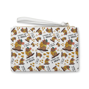 Looking like a snack wristlet Clutch Bag WHITE
