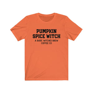 Pumpkin Spice Witch Unisex Jersey Short Sleeve Tee