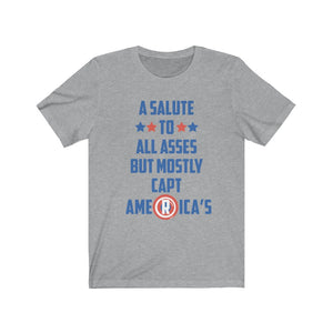 A salute to all Asses Unisex Jersey Short Sleeve Tee