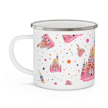 Load image into Gallery viewer, Celebrate the Magic Enamel Campfire camping Mug