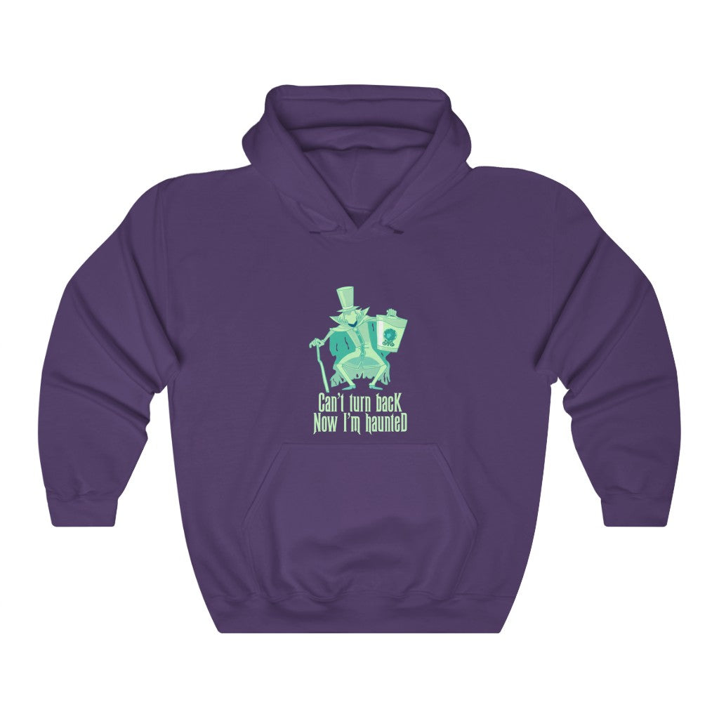 Can't turn  back now I'm haunted Unisex Heavy Blend™ Hooded Sweatshirt