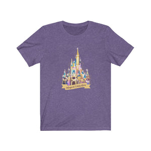 Magical Celebration 50th Castle Unisex Jersey Short Sleeve Tee