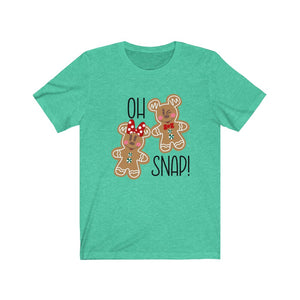 Oh Snap gingerbread mouse Unisex Jersey Short Sleeve Tee
