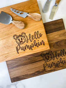 Hello Pumpkin Cutting Board