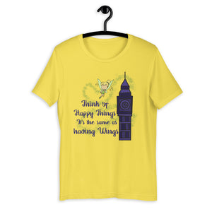Think of happy thoughts Short-Sleeve Unisex T-Shirt