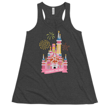 Load image into Gallery viewer, Celebrate the Magic Pink Castle Cake Women's Flowy Racerback Tank