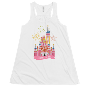 Celebrate the Magic Pink Castle Cake Women's Flowy Racerback Tank