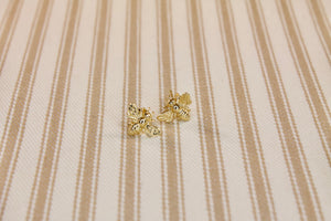 Gold Bee Earrings