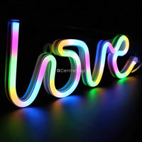 Love Neon Multicolor Lamp - CentreStep