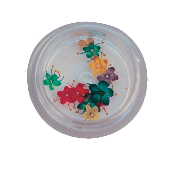 Nail Art Flowers, tin with 10 pcs, Dana