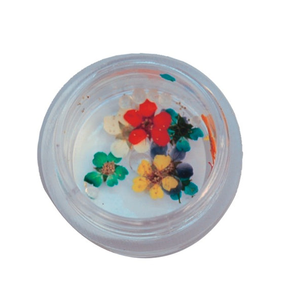 Nail Art Flowers, tin with 10 pcs, Spring