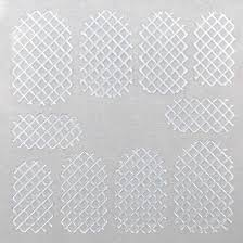 Nail Grid Sticker, silver square